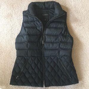 Talbots black puffer vest size S
